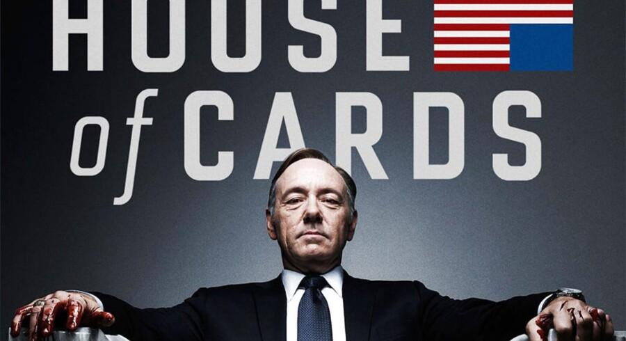 TV-serien »House of Cards« med Kevin Spacey i en af hovedrollerne som en magtsyg, amerikansk toppolitiker er en egenproduktion fra den amerikanske netfilmtjeneste Netflix, og den er med til at hente nye kunder til butikken. Foto: Netflix/Scanpix