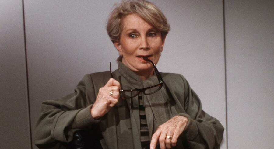 Fernande Grudet umiddelbart inden et talk-show i 1986.