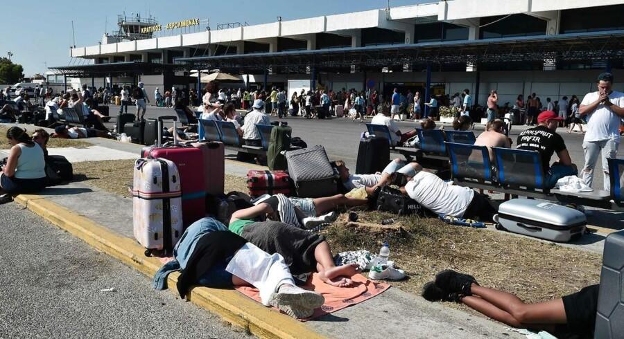 Mange turister er nu på vej hjem fra Kos.