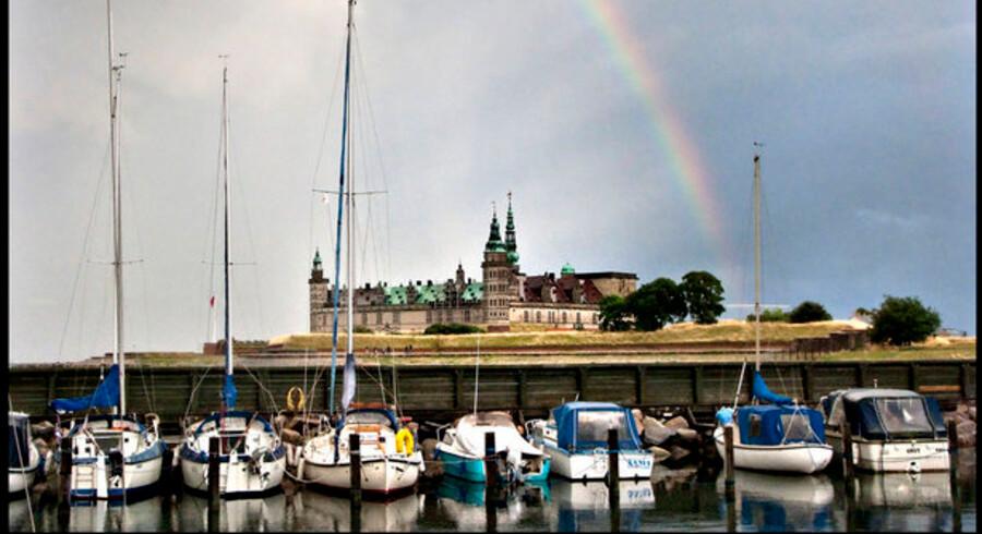 Kronborg i Helsingør danner rammen om festmiddagen op til den store OECD-konference om grøn IT på Hotel Marienlyst i slutningen af maj. Foto: Keld Navntoft, Scanpix