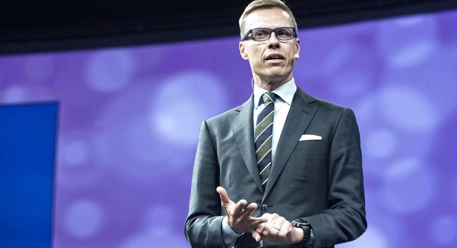 Den finske statsminister, Alexander Stubb, anklager Apple for at være årsag til den økonomiske krise i Finland. Arkivfoto: Jens Nørgaard Larsen, Scanpix