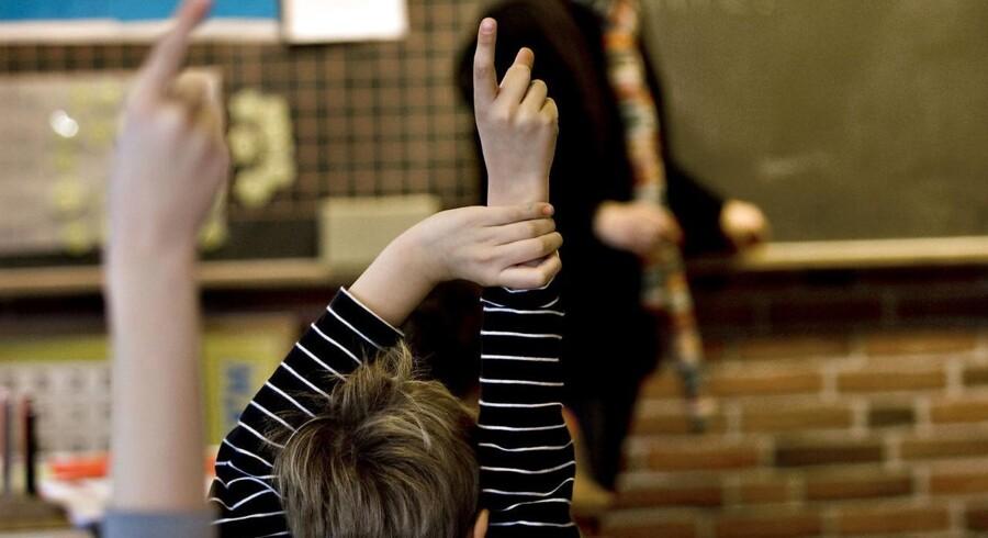 ARKIVFOTO af undervisning i folkeskole- - Se RB 8/9 2015 09.21. Folkeskoler ansætter undervisere uden en læreruddannelse. Det er ikke i overensstemmelse med folkeskoleloven. (Foto: Steffen Ortmann/Scanpix 2014)