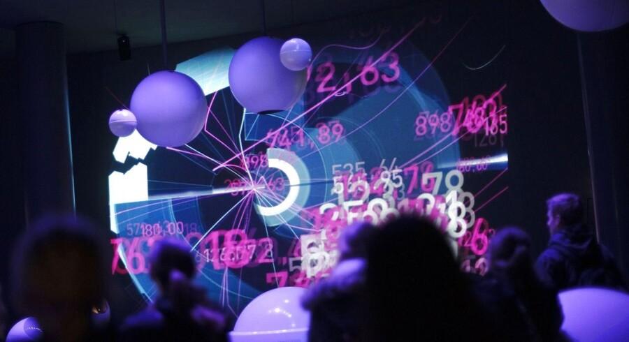 Et billede fra en udstilling på CERN om partikler og opdagelsen af Higgs.