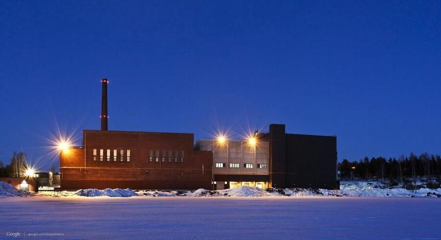 Google købte i 2009 en tidligere papirmølle i Hamina i Finland og har i dag et datacenter her, som nu får tilført mange milliarder kroner ekstra. Arkivfoto fra oktober 2012: Google/EPA/Scanpix