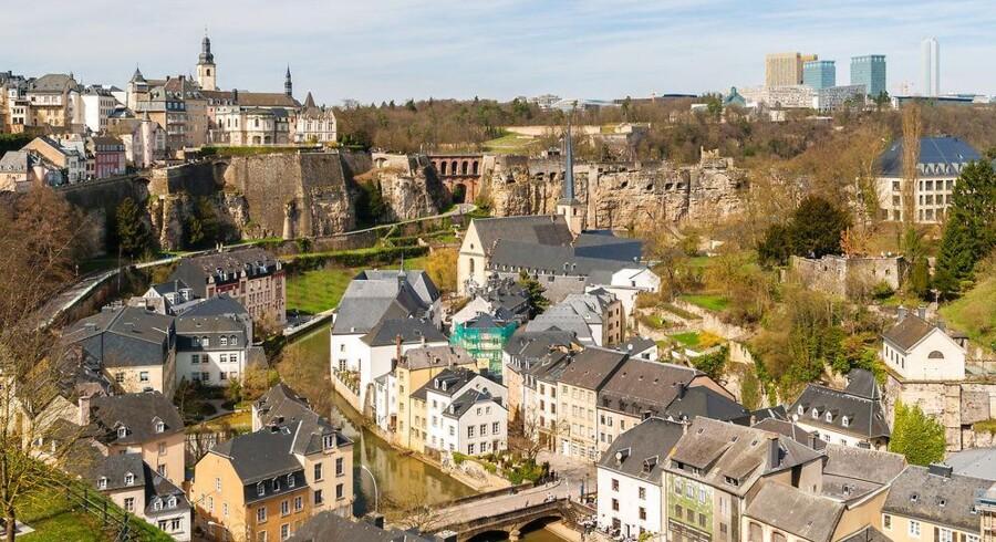 Storhertugdømmet Luxembourg huser mange europæiske selskaber, som hidtil på den måde har betalt lavere moms, end hvis de f.eks. afregnede ved kasse 1 i Danmark. Arkivfoto: Leonid Andronov, Iris/Scanpix