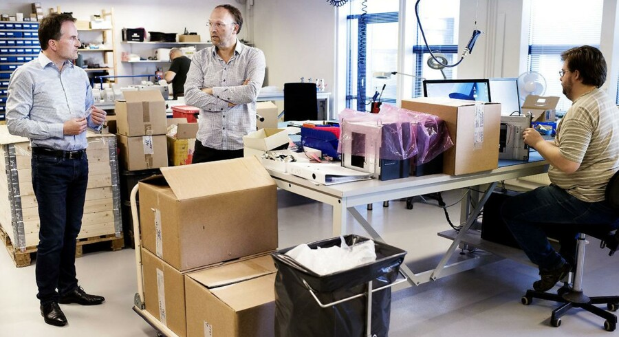 CEO Michael Eising og vicebestyrelsesformand Martin Glensbjerg fra Chemometec. Arkivbilled.