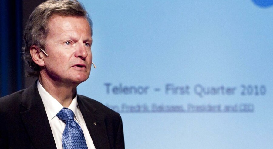 Jon Fredrik Baksaas, CEO hos Telenor.