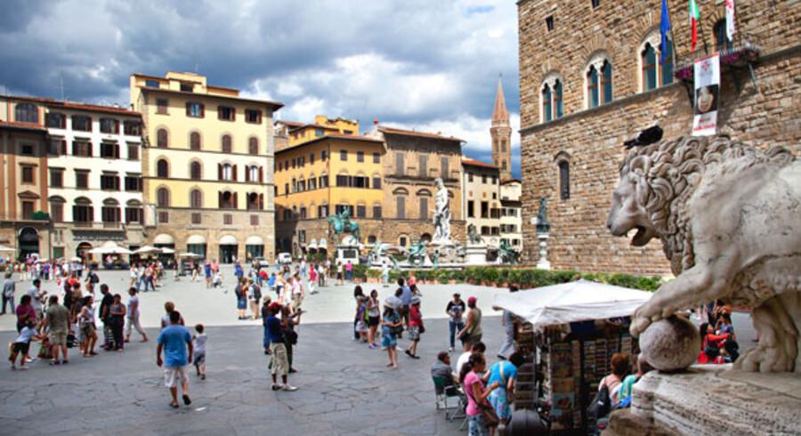 Piazza Della Signoria i Firenze.