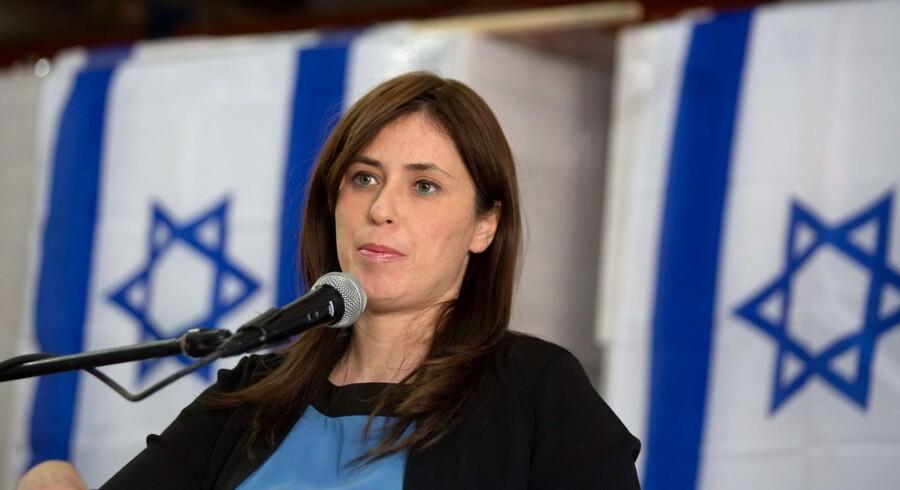 """Den israelske viceudenrigsminister Tzipi Hotovely siger, at Israel står midt i en kamp mod terror, og at Sverige, """"støtter og de facto opmuntrer"""" til terror."""