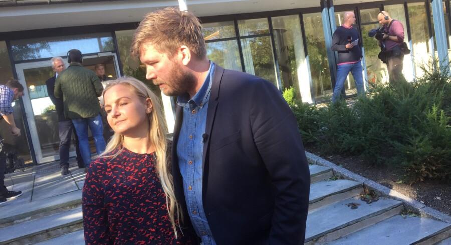 Erhvervs- og vækstminister Troels Lund Poulsen vil se velvilligt på en ansøgning fra forpagterparret Kenneth og Louise Hansen (billedet) om at gøre Svinkløv Badehotel til et nyt forsøgsprojekt for kystturisme. Free/Free / Jan Bjerre Lauridsen, Ritzau