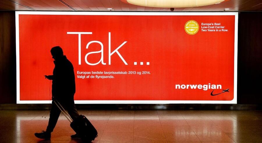 ARKIVFOTO 2015 af Norwegian strejke i Københavns Lufthavn- - Se RB 10/4 2015 08.35. Pilotstrejken hos Norwegian endte isoleret set med at koste omkring 300 millioner danske kroner. (Foto: Bax Lindhardt/Scanpix 2015)