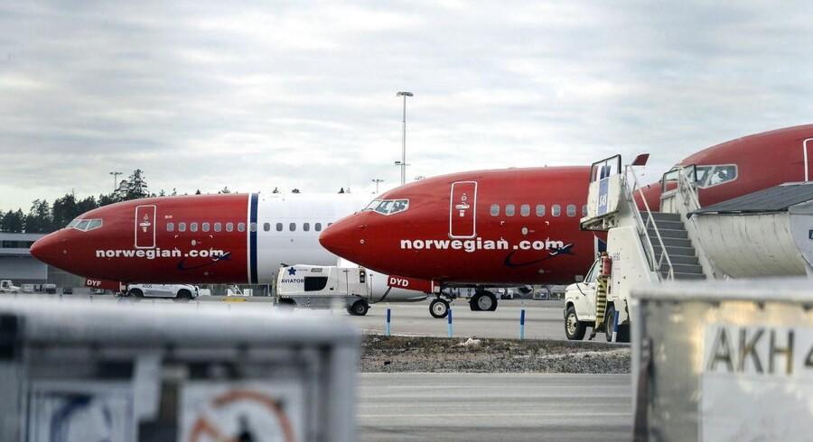Norwegian satte ny rekord med mere end 2,7 millioner passagerer i juli. Arkivfoto.