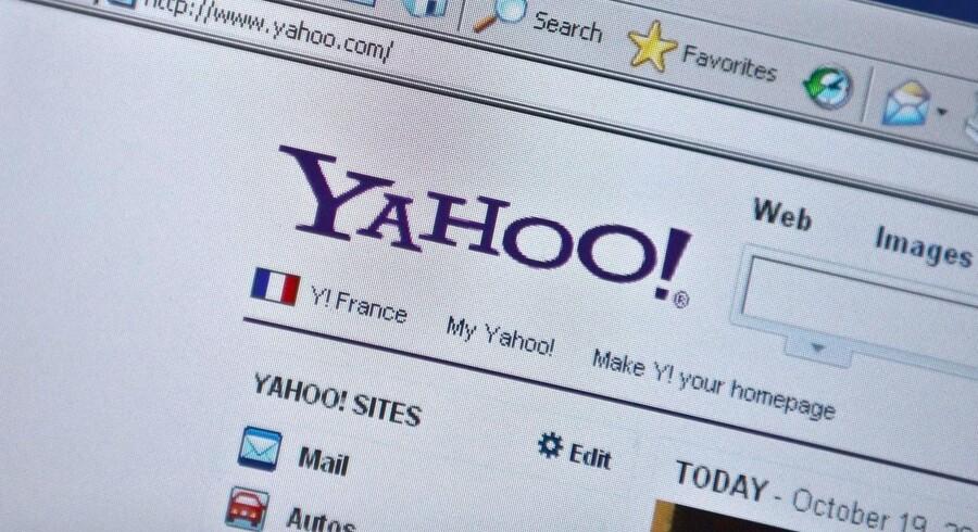 Yahoo vil nu have sine brugere til at logge ind med Yahoo-ID og ikke med Facebook- og Google-konti. Arkivfoto: Nicholas Kamm, AFP/Scanpix