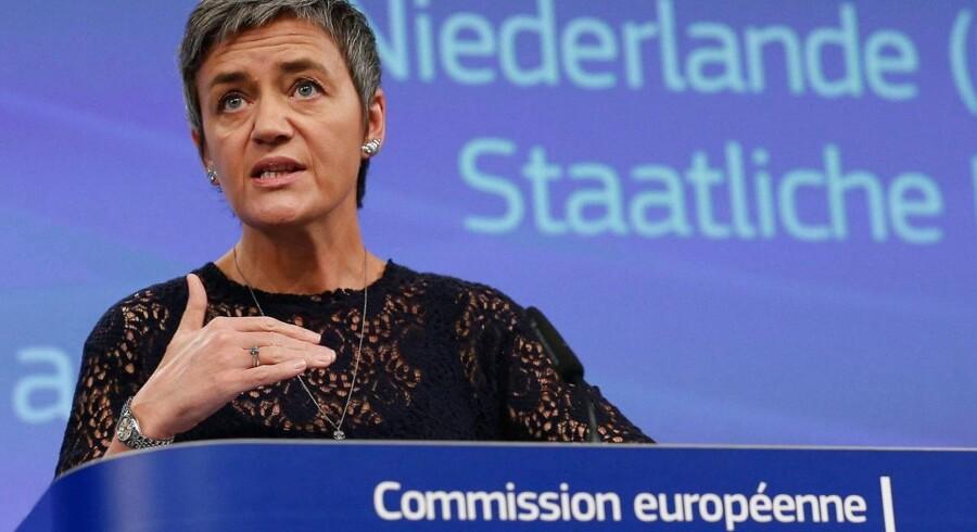 EU's konkurrence kommissær, Margrethe Vestager. Arkivfoto.