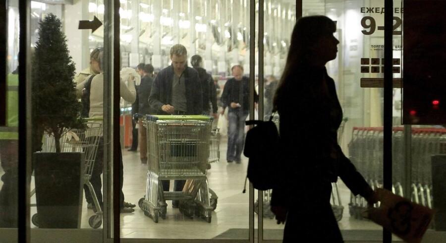 Stigende dagligvarepriser har sat de russiske forbrugere under pres. Foto: Sergei Gapon/AFP