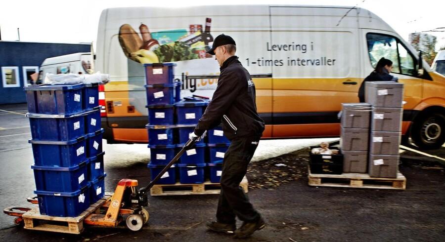 Nemlig.com er en af de online-dagligvarebutikker, der oplever et boom i efterspørgslen. FOTO: Nils Meilvang/Scanpix