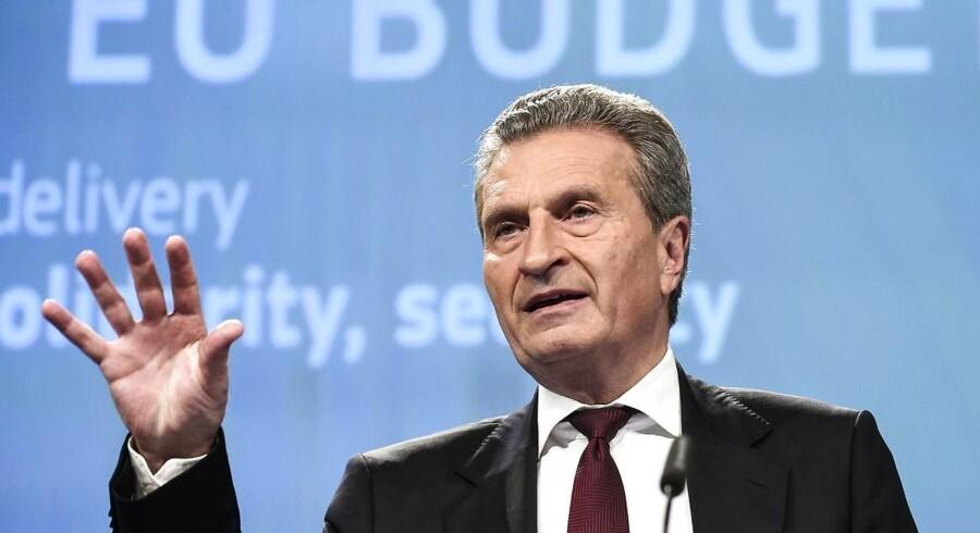 Han var – måske – lidt for ærlig om sin holdning til Italiens nye protestpartier, den tyske EU-kommissær Günther Oettinger.