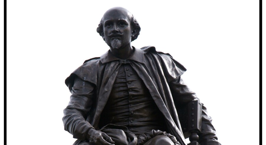 Statue af digteren William Shakespeare i Stratford-upon-Avon. Foto: Torben Christensen