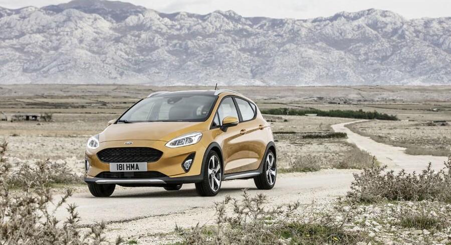 Undervognen er hævet med 1,8 cm og karrosseriet er beskyttet af ulakeret plast - det er den nye SUV-inspirerede Ford Fiesta Active i en nøddeskal