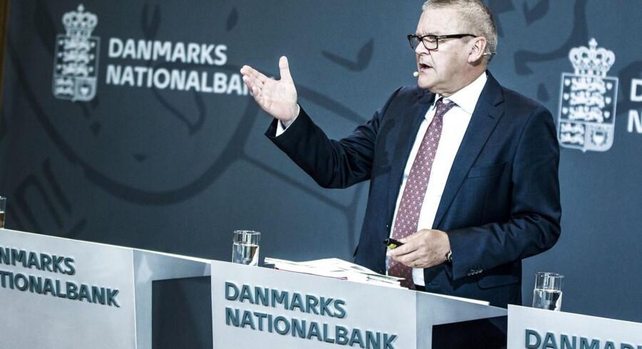 Nationalbankdirektør Lars Rohde( præsenterer konjunktur, prognose og Nationalbankens regnskab 2015.