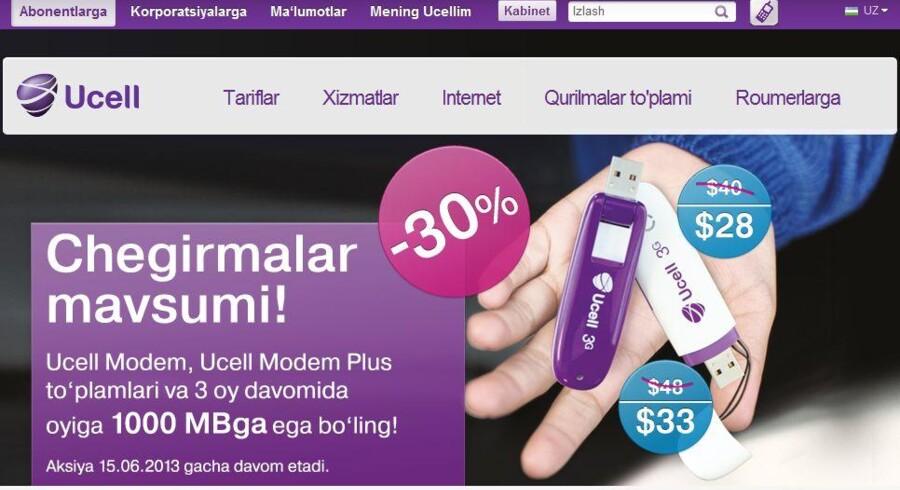 Telias mobilselskab i Usbekistan, Ucell, har nu 13,8 millioner kunder.