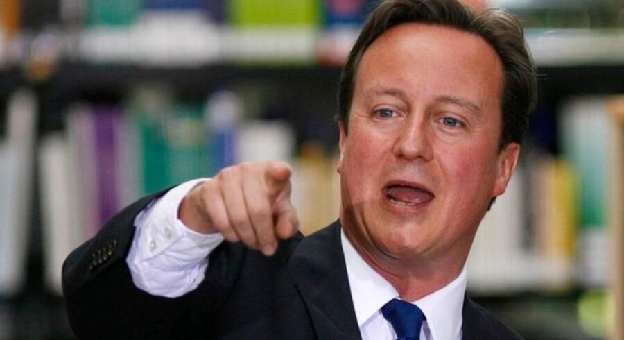 Det er slut, er budskabet fra den konservative leder i Storbritannien, David Cameron. Foto: Luke MacGregor, Reuters/Scanpix