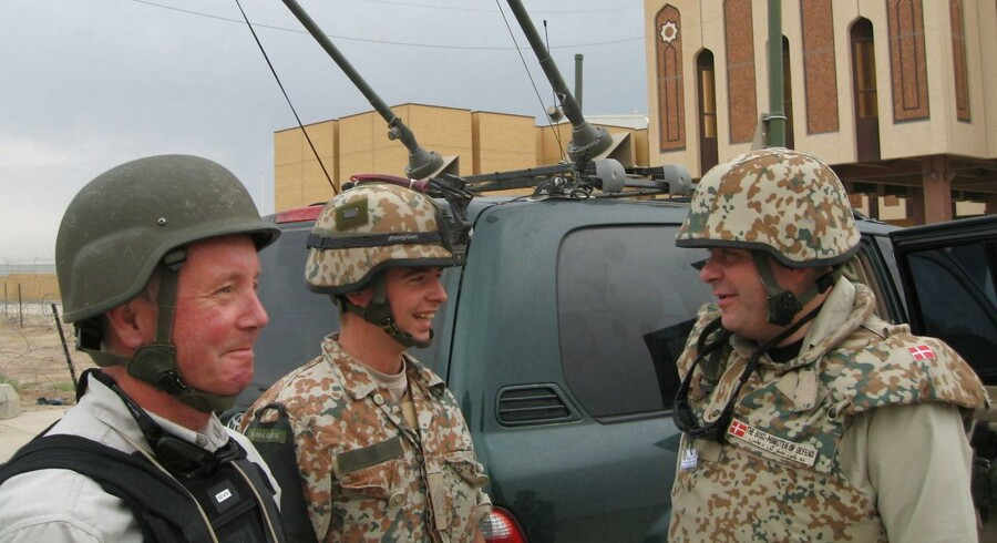 Arkivfoto: Tidligere forsvarsminister Søren Gade (V) under et besøg i Irak.