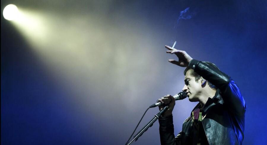 Alex Turner, her på Roskilde Festvial 2014, er klart med sit andet album med The Last Shadow Puppets.Foto: Torben Christensen