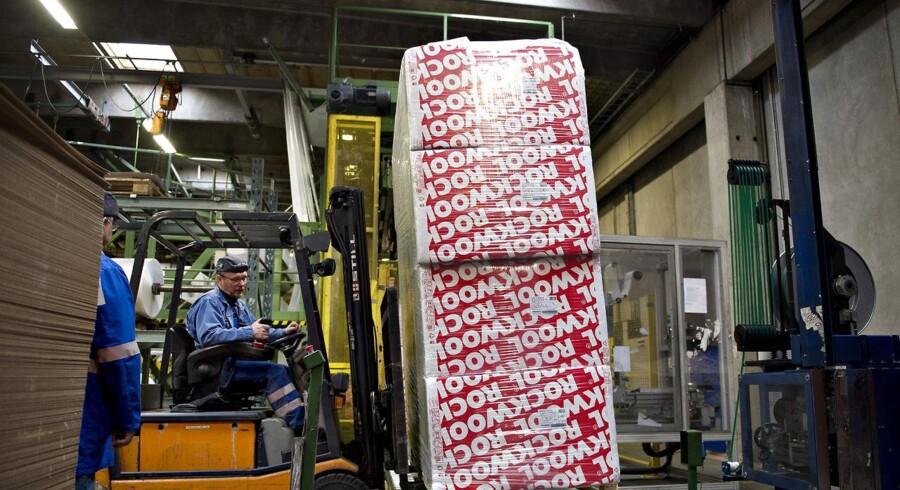 Produktion af rockwool på fabrikken Rockwool i Ø. Doense ved Hobro.