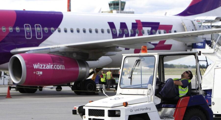 Wizz Air har haft vokseværk siden etableringen i 2003. Fra foråret vil det blive muligt af flyve med det ungarske lavprisselskab, Wizz Air, fra Københavns Lufthavn. I første omgang vil der blot være en rute til Skopje i Makedonien. Arkivfoto.