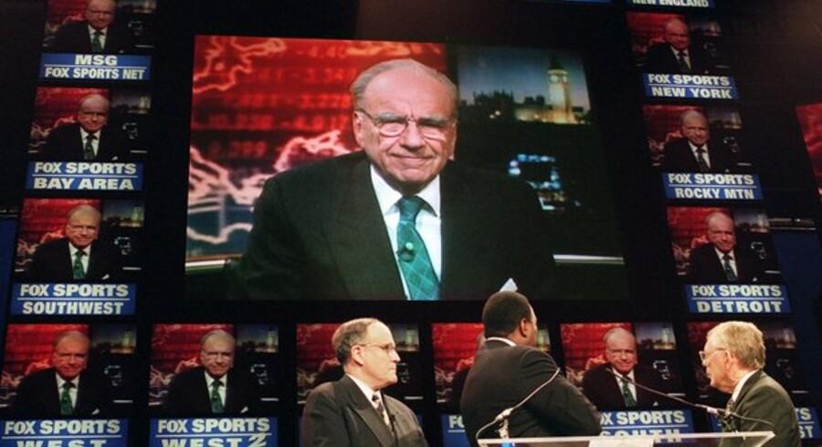 Rupert Murdoch på skærmen.