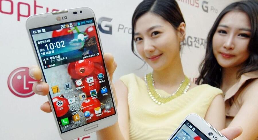 Optimus G Pro er LGs nye toptelefon med en stor skærm på 5,5 tommer. Foto: LG Electronics