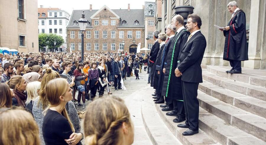 Rektor Ralf Hemmingsen byder nye studerende velkommen på Københavns Universitet i august 2013 (Foto: Nikolai Linares/Scanpix 2012)