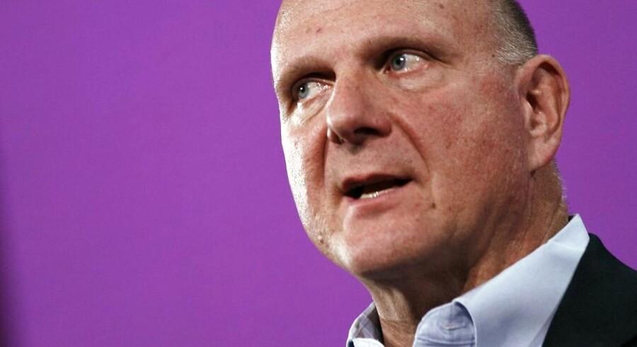 Microsoft-topchefen Steve Ballmer stopper inden for et år.