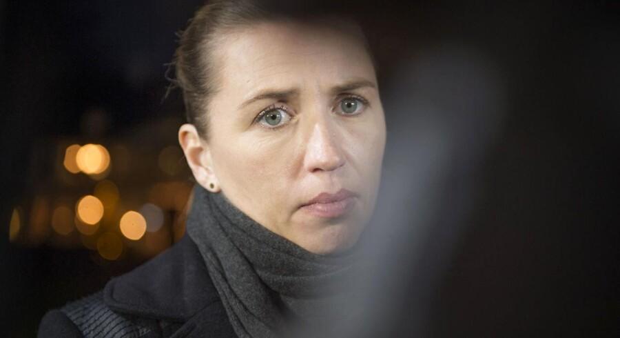 S-formand Mette Frederiksen får noget af en opgave med at samle støttepartierne om en fælles udlændingepolitik i en folketingsvalgkamp. Arkivfoto: Jens Nørgaard Larsen