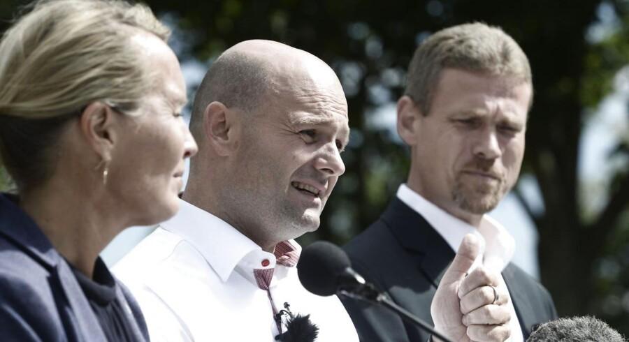 Pressemøde med Det Konservative Folkepartis leder Søren Pape Poulsen.