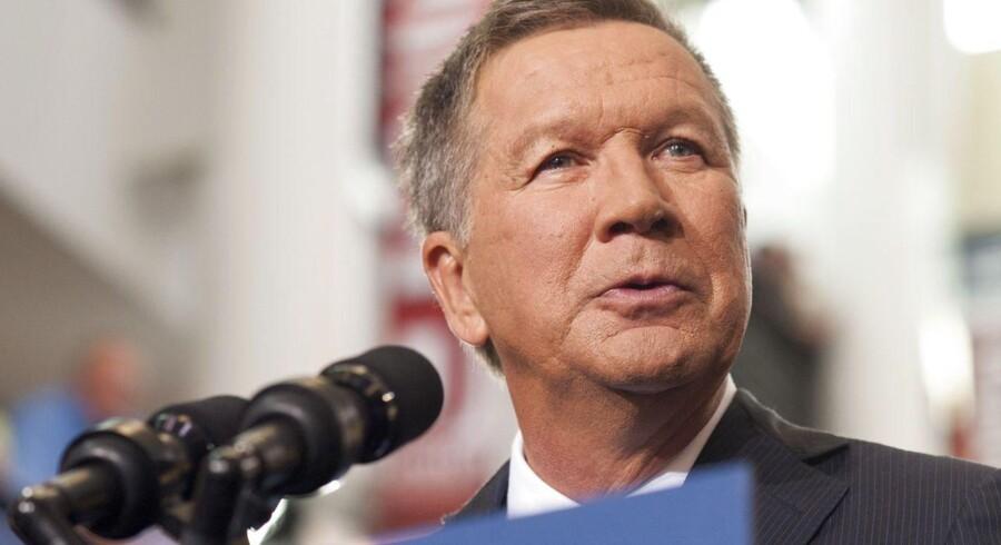 Ohios guvernør John Kasich annoncerede sit kandidatur i en tale på Ohio State University i Columbus, Ohio.