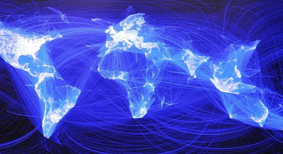 Kortet viser forbindelserne mellem brugere på Facebook. Rusland og Kina har begge alternativer til Facebook og penetrationen er derfor lavere her. I Kina har myndighederne helt blokeret for lovlig brug af Facebook.