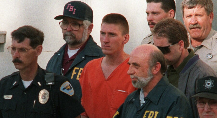 Timothy McVeigh blev anholdt blot to dage efter terrorangrebet på Alfred P. Murrah Federal Building i Oklahoma City 19. april 1995. Arkivfoto: Bob Daemmerich