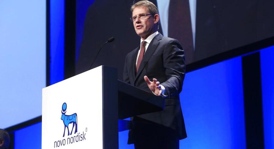 Novo-topchef Lars Rebien Sørensen afleverede fredag morgen et regnskab til markedet, som fik selskabets aktie til at styrtdykke.
