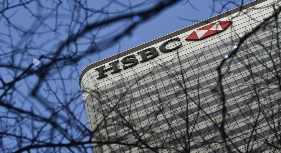 Den 23. juni skal briterne stemme om Storbritanniens fremtidige skæbne i EU. Hvis det bliver et nej, vil storbanken HSBC måske flytte tusind arbejdspladser fra London til Paris. Arkivfoto.