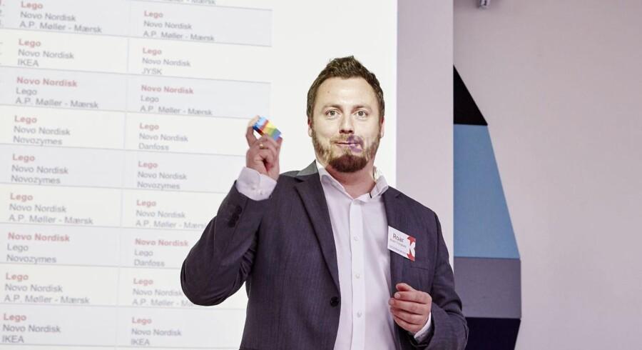 Kåringen af Guld Image 2015 vinderne. LEGOs pressechef Roar Rude Trangbæk vandt i 2015.