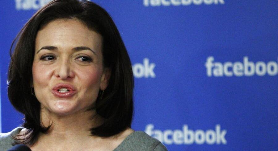 Sheryl Sandberg træder nu ind i Facebooks bestyrelse efter fire år i selskabet, som hun var med til at børsnoteret. Foto: Eduardo Muñoz, Reuters/Scanpix
