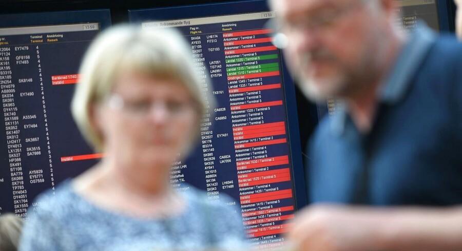 I alt aflyser SAS 38 fly, og SAS' pressetjeneste bekræfter, at gårsdagens tekniske problemer også stiller sig i vejen for noget af trafikken fredag.