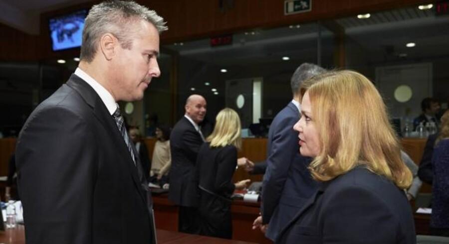 Erhvervs- og vækstminister Henrik Sass Larsen (S) deltog på EU-ministermødet, hvor man forsøgte at blive enige om at få fjernet roamingafgifterne i EU, hvilket Danmark støtter. Foto: EU-Ministerrådet