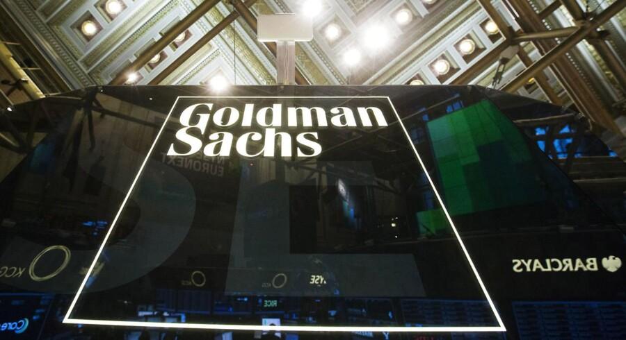 Arkivfoto: Goldman Sachs logo.