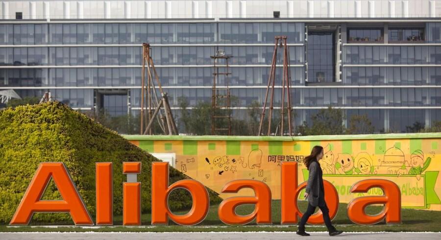 Alibaba har hovedsæde i udkanten af Hangzhou og køber konstant op forud for en gigantisk børsnotering. Foto: Jeff Lee, EPA/Scanpix