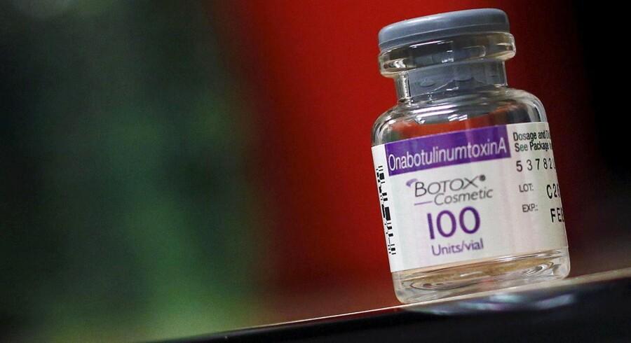 Aktien i amerikanske Allergan, der ejer skønhedsproduktet Botox, kom i alvorlig modvind i mandagens amerikanske eftermarked efter offentliggørelsen af nye skatteregler fra det amerikanske finansministerium. Arkivfoto.
