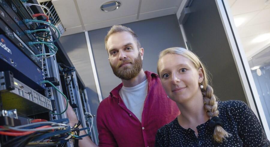 Christian Rasmussen og Cathrine W. Andersen har været gennem tre hæsblæsende år, som har budt på både etablering af egen virksomhed og salg af samme til IT-kæmpen Cicso. Foto: Michael Bothager