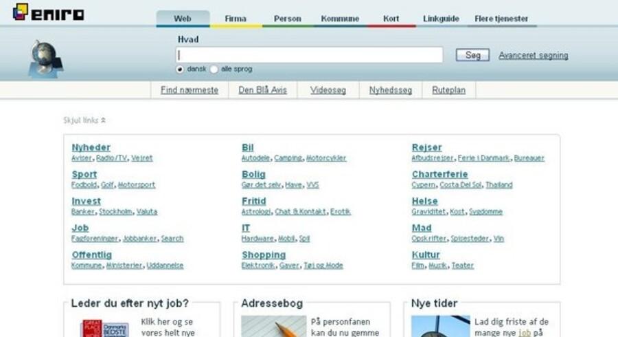 Søgetjenesten Eniro skal skaffe 2,5 milliarder svenske kroner ved en aktieudstedelse.
